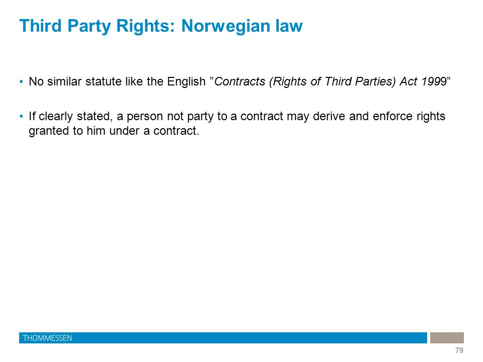 Third Party Rights: Norwegian law