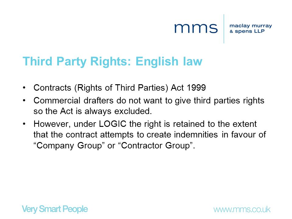 Third Party Rights: English law