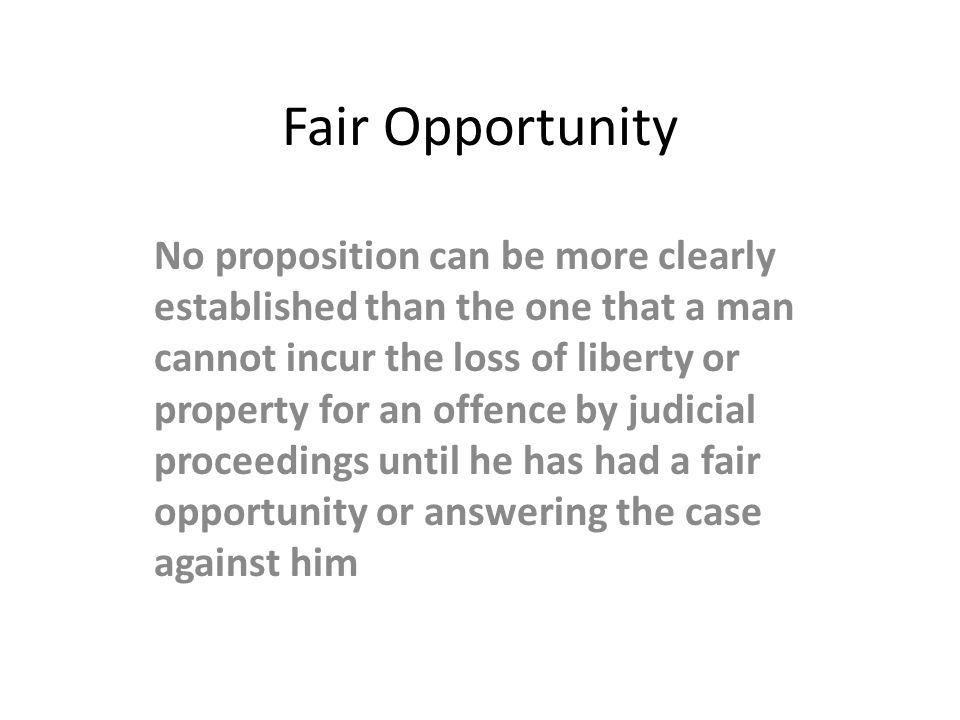 Fair Opportunity