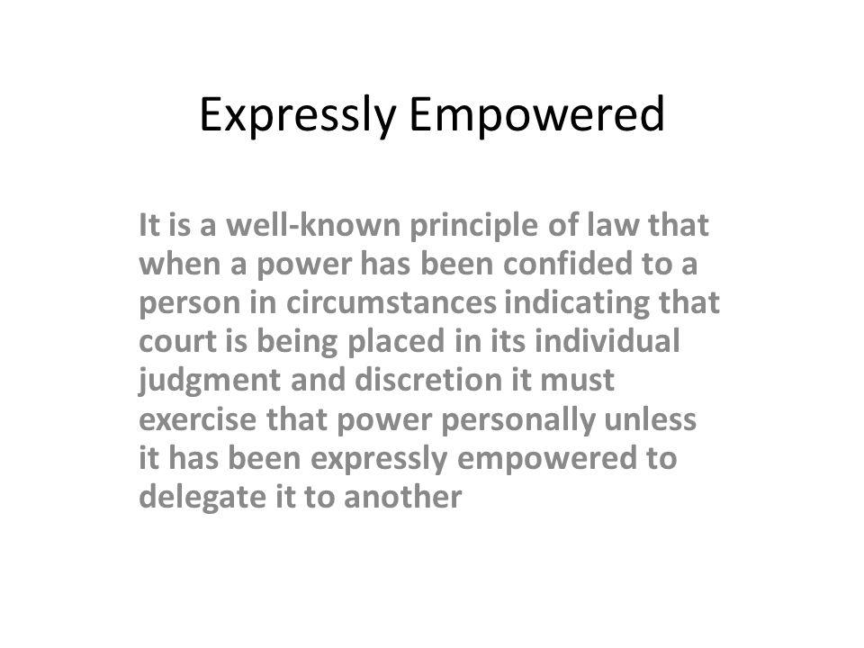 Expressly Empowered