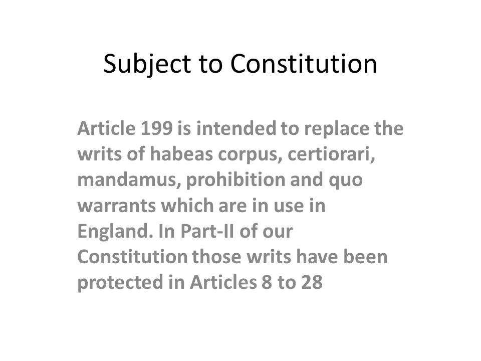 Subject to Constitution