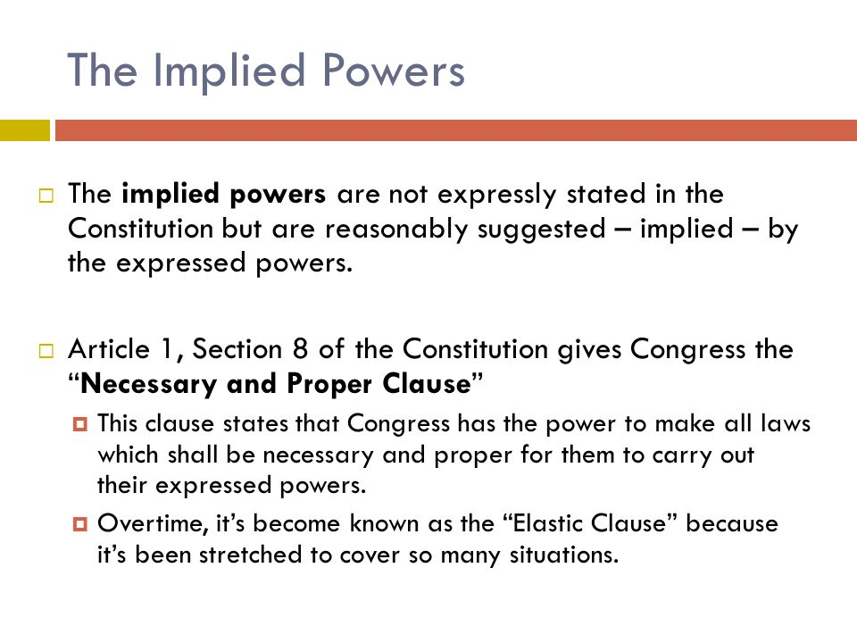 The Implied Powers