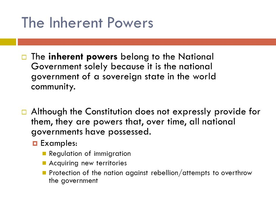The Inherent Powers