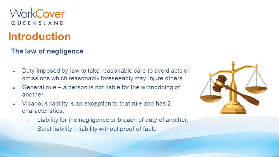Introduction The law of negligence
