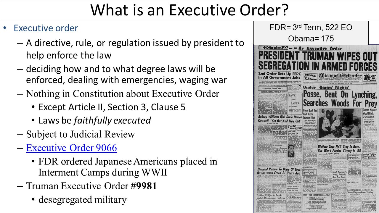 What is an Executive Order