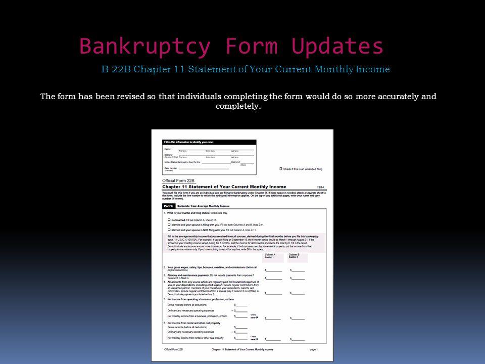 Bankruptcy Form Updates