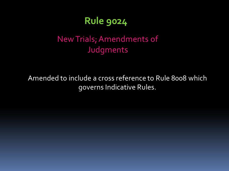 New Trials; Amendments of Judgments
