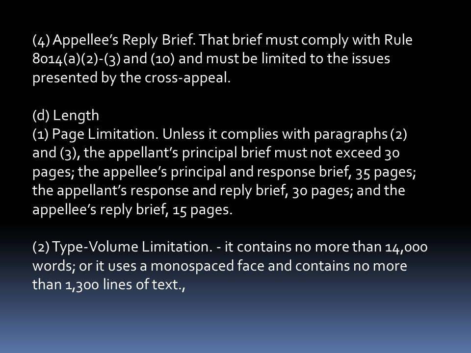 (4) Appellee's Reply Brief