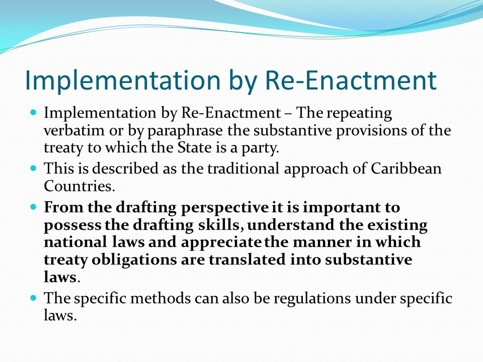 Implementation by Re-Enactment