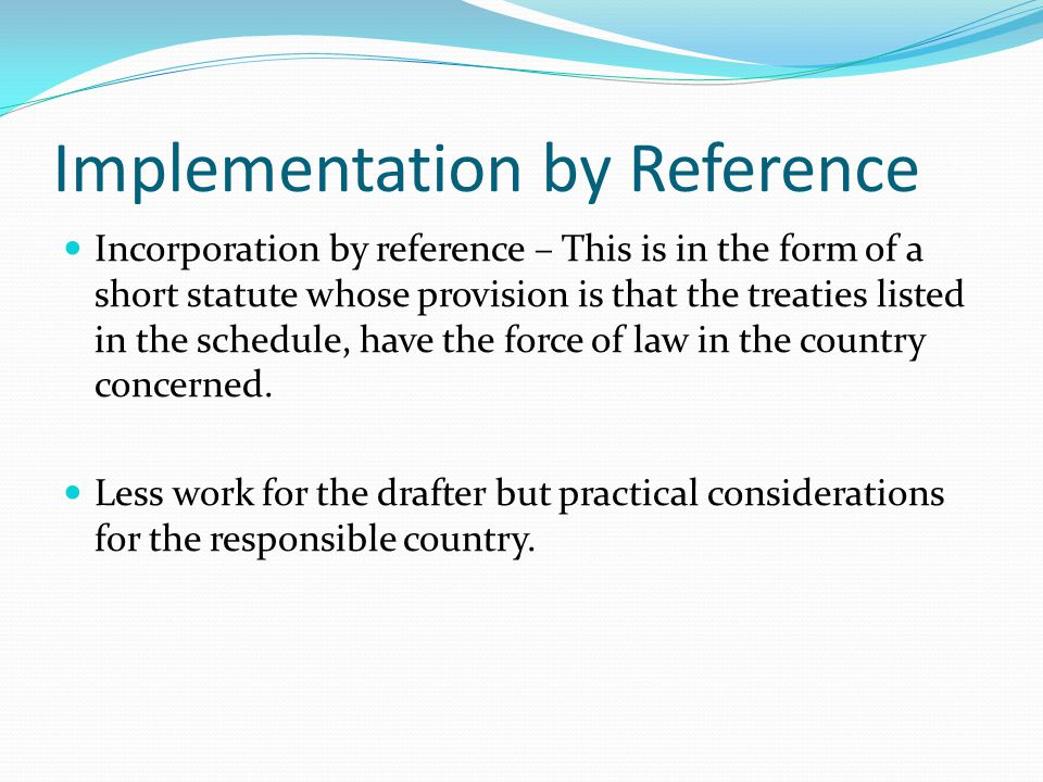 Implementation by Reference