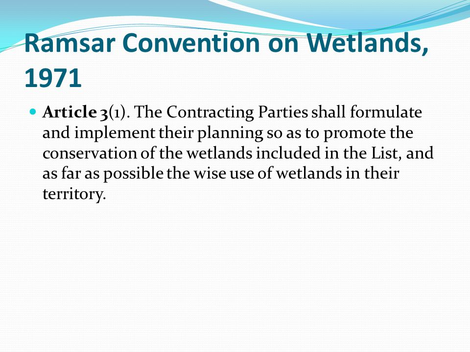 Ramsar Convention on Wetlands, 1971