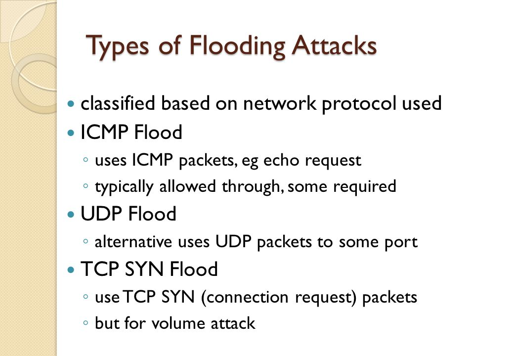 Types of Flooding Attacks