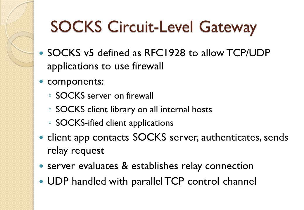 SOCKS Circuit-Level Gateway