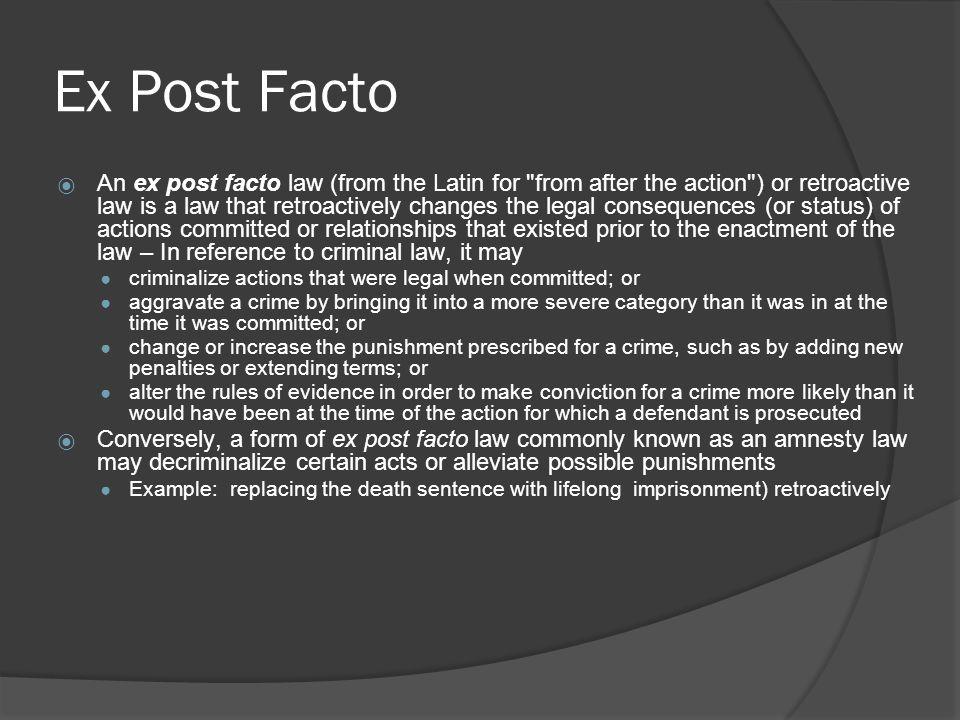 Ex Post Facto