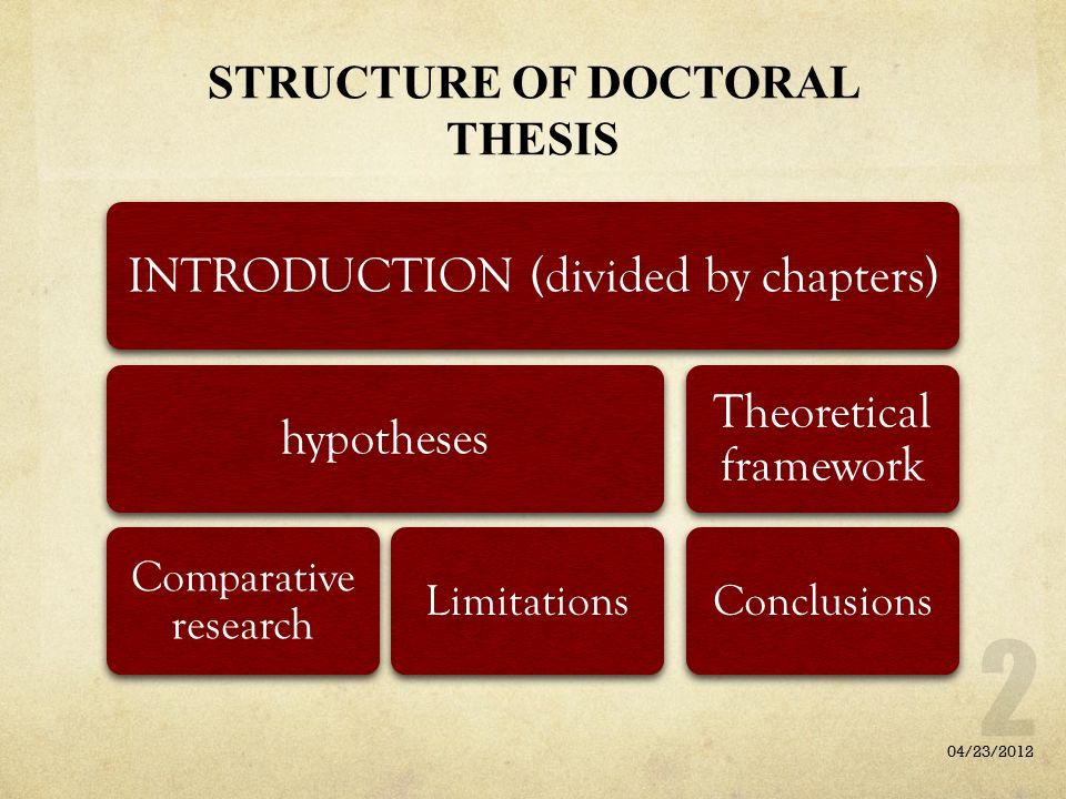 STRUCTURE OF DOCTORAL THESIS