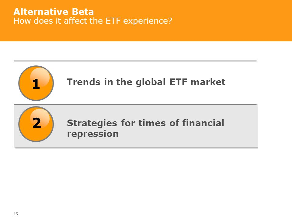 Alternative Beta How does it affect the ETF experience