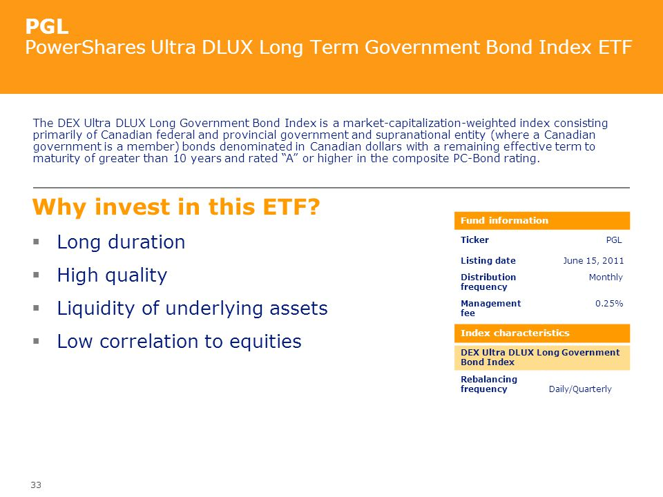 PGL PowerShares Ultra DLUX Long Term Government Bond Index ETF