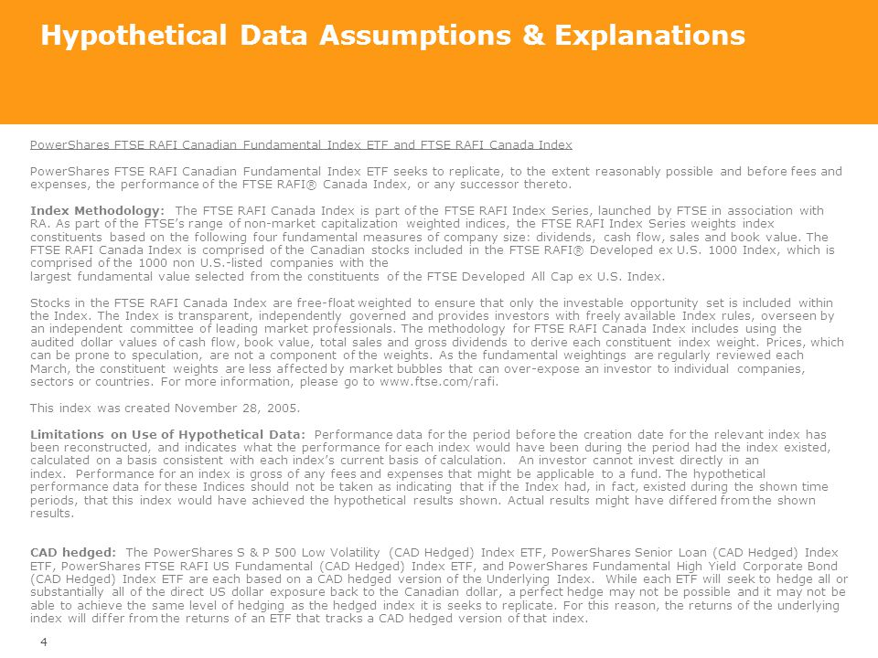 Hypothetical Data Assumptions & Explanations