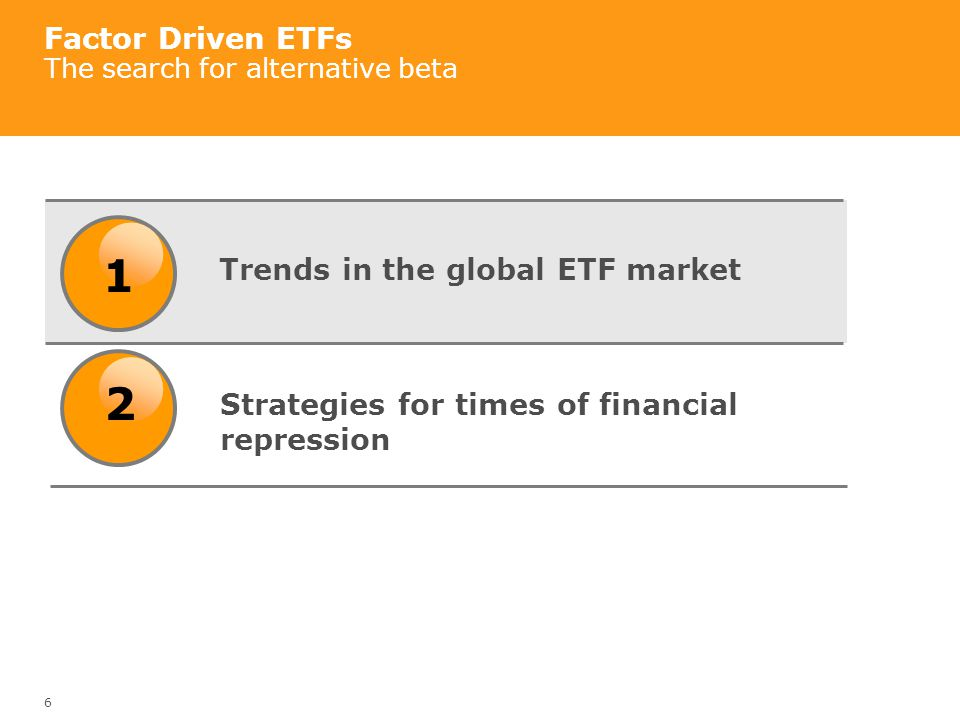 Factor Driven ETFs The search for alternative beta