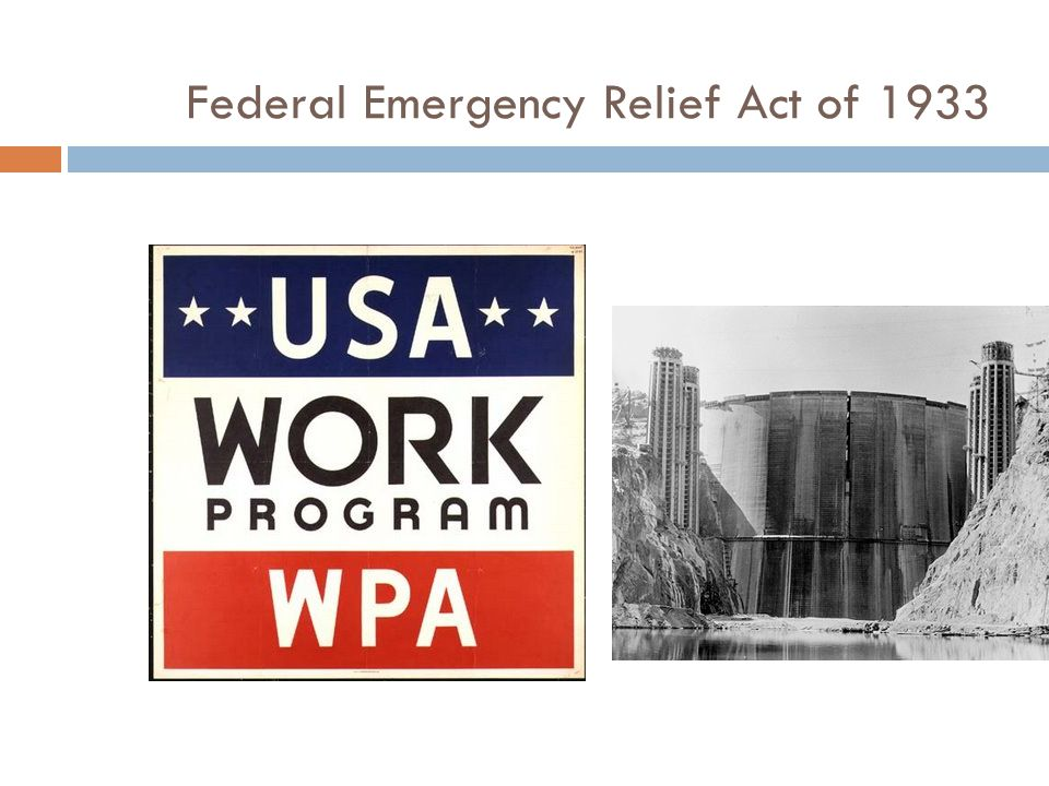 Federal Emergency Relief Act of 1933