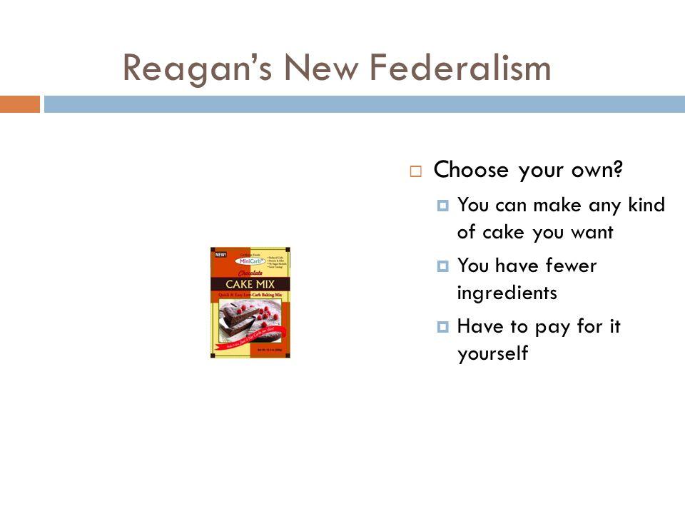Reagan's New Federalism