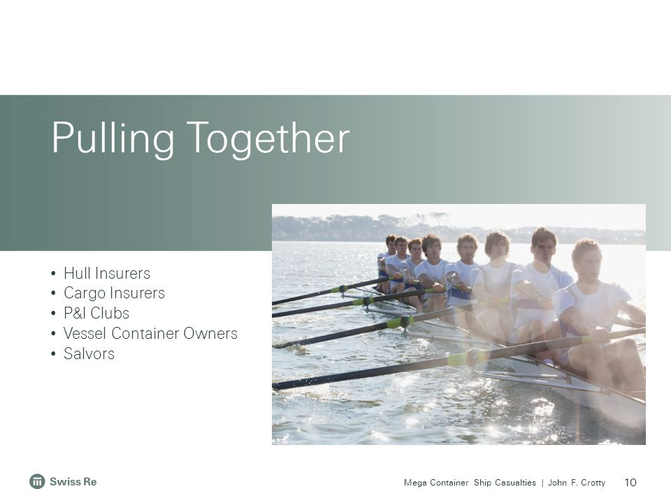 Pulling Together Hull Insurers Cargo Insurers P&I Clubs