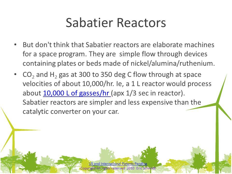 Sabatier Reactors