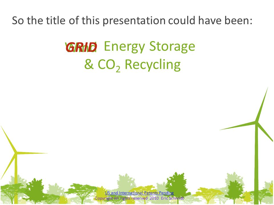 Energy Storage & CO2 Recycling