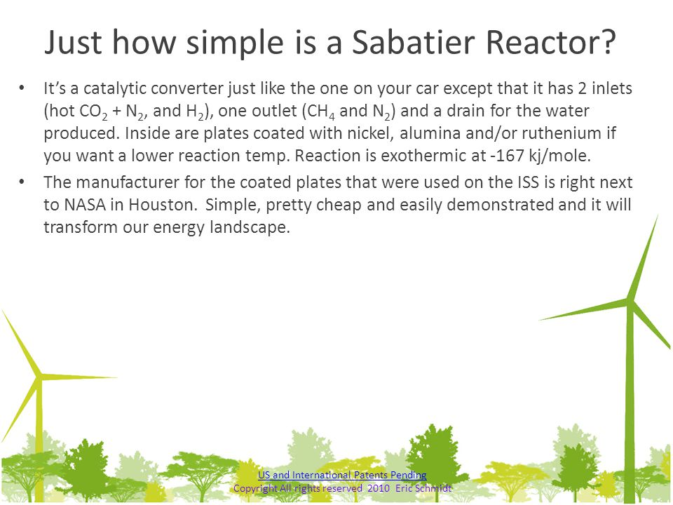Just how simple is a Sabatier Reactor