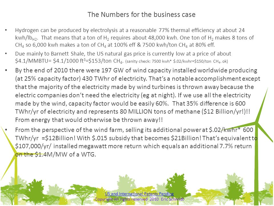 The Numbers for the business case