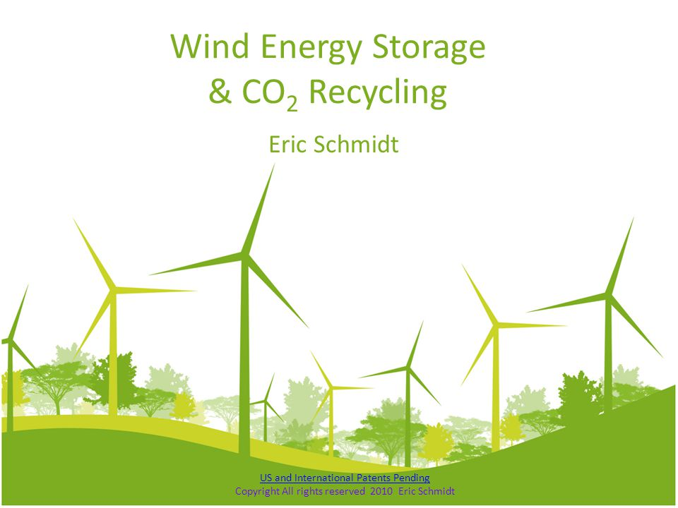 Wind Energy Storage & CO2 Recycling