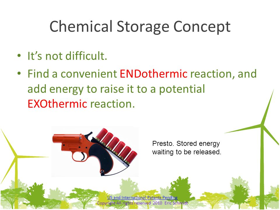 Chemical Storage Concept