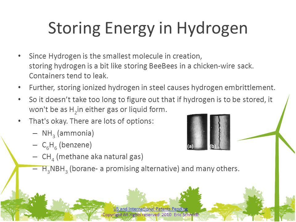 Storing Energy in Hydrogen