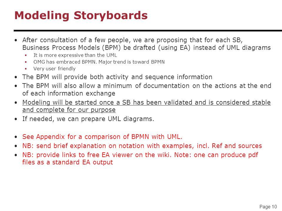 Modeling Storyboards