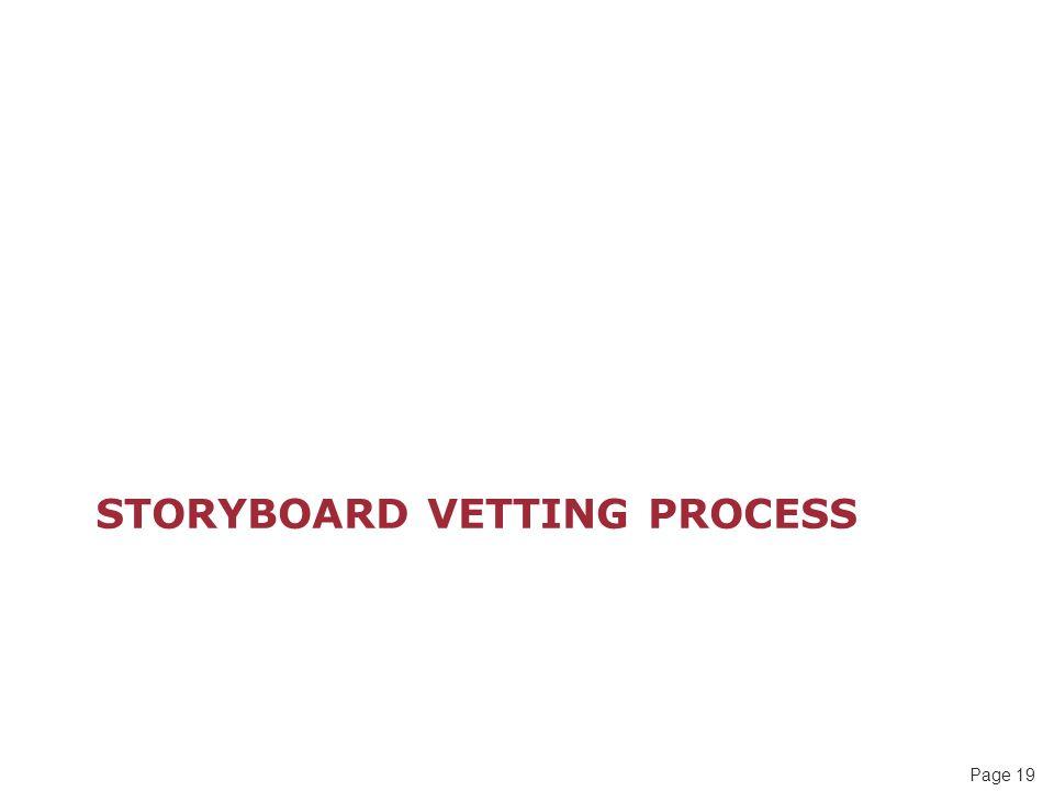 Storyboard Vetting Process