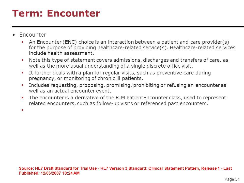 Term: Encounter Encounter