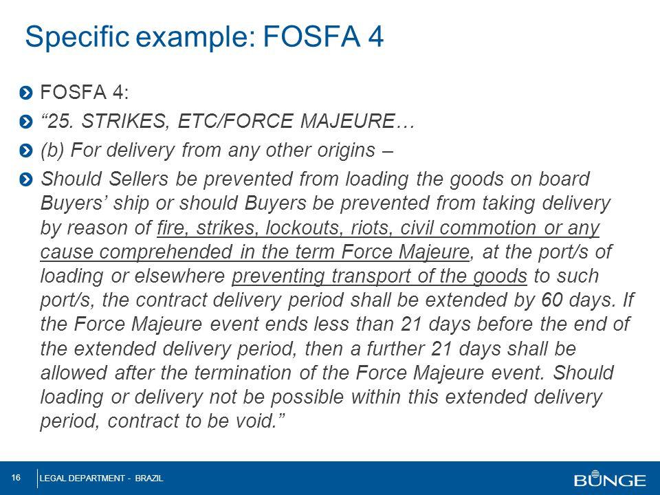 Specific example: FOSFA 4