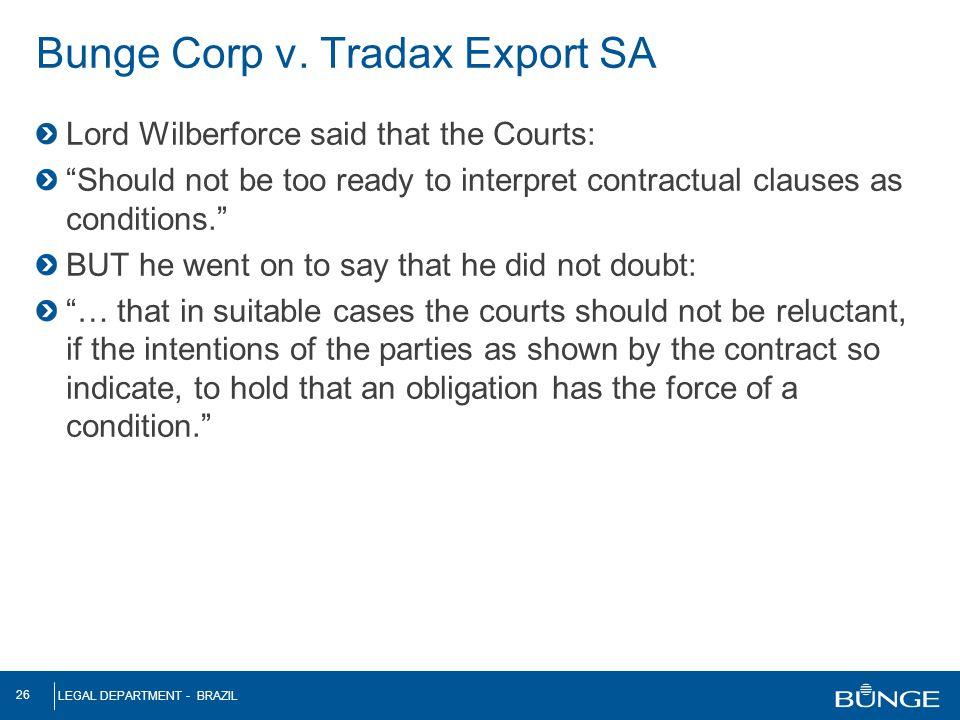 Bunge Corp v. Tradax Export SA