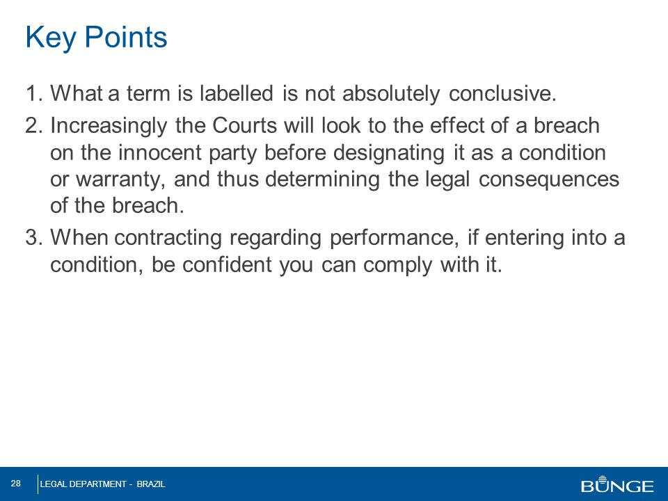 Key Points What a term is labelled is not absolutely conclusive.