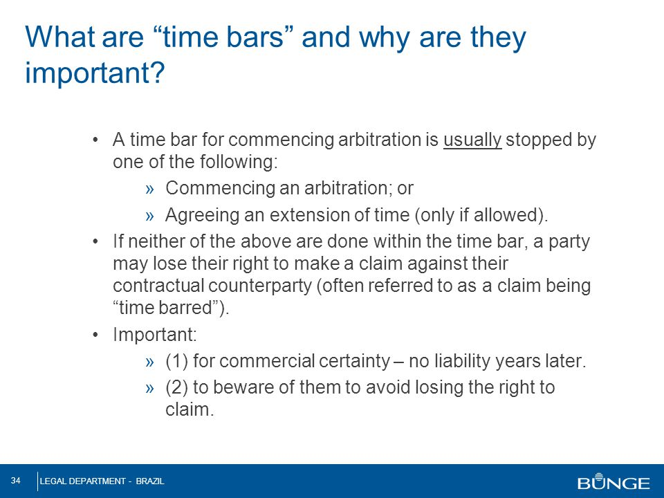 What are time bars and why are they important