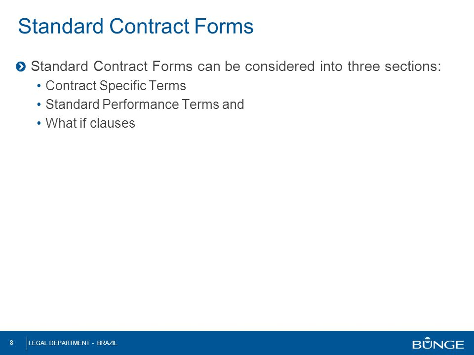 Standard Contract Forms