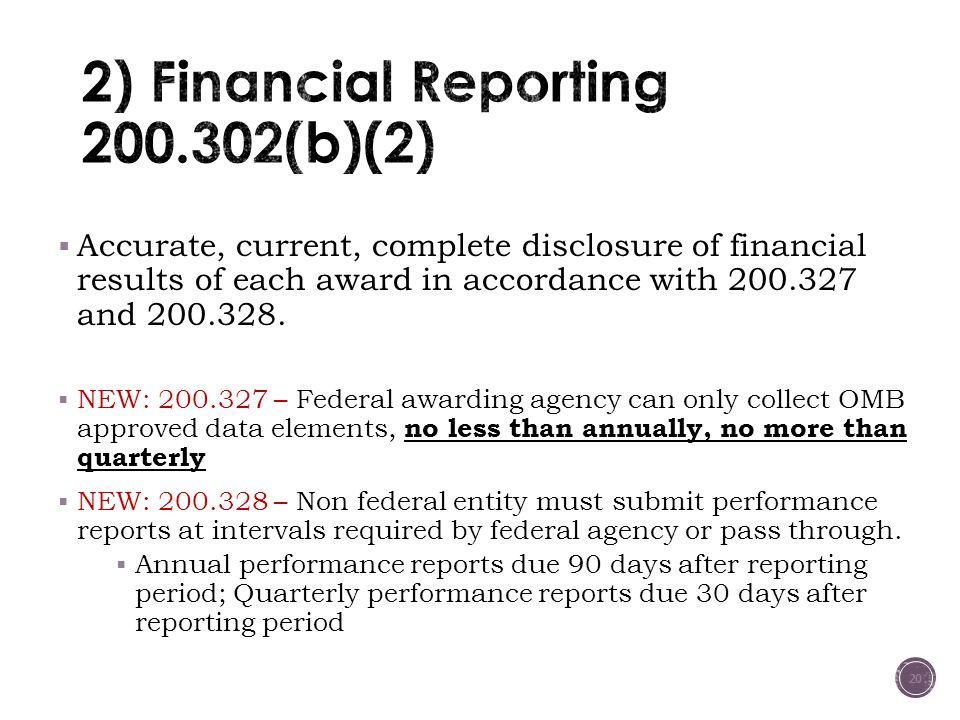 2) Financial Reporting 200.302(b)(2)