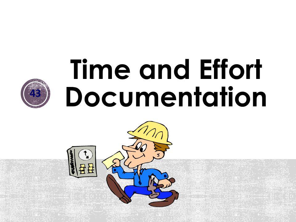 Time and Effort Documentation