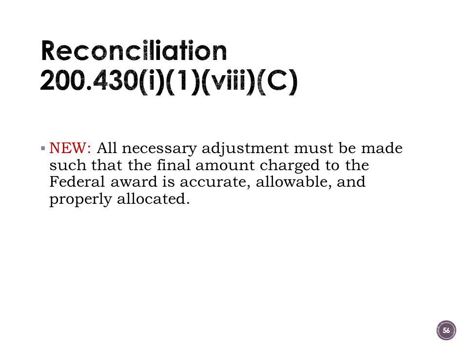 Reconciliation 200.430(i)(1)(viii)(C)