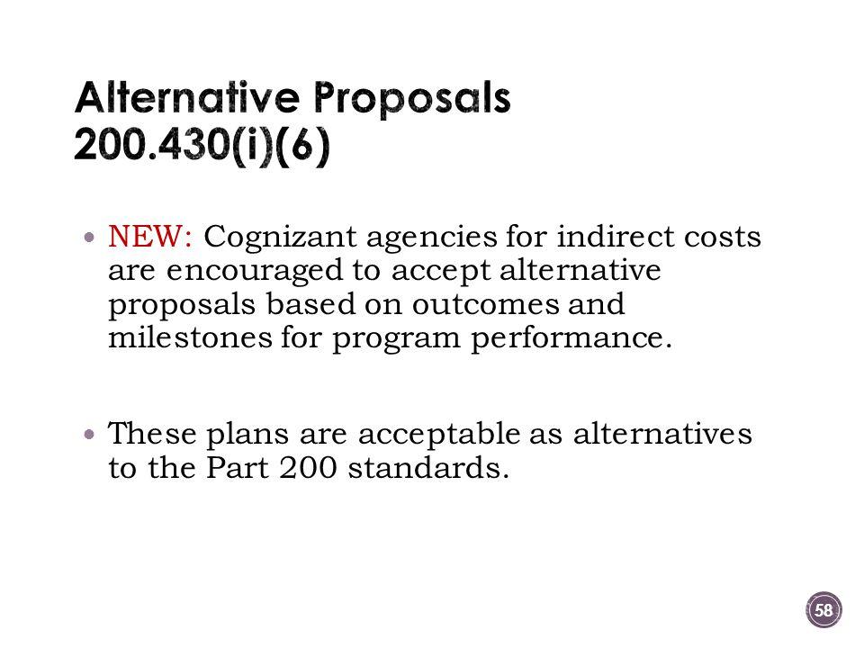 Alternative Proposals 200.430(i)(6)