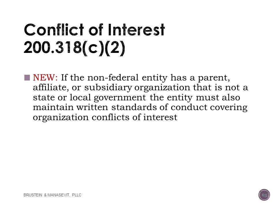 Conflict of Interest 200.318(c)(2)