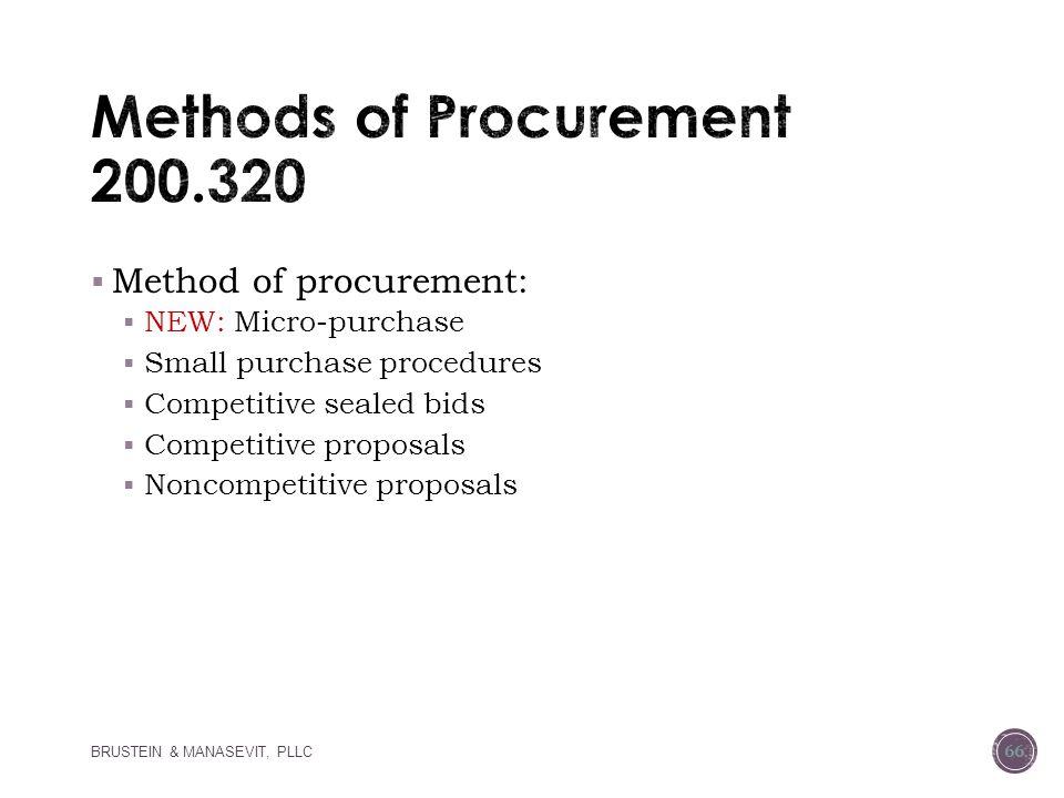 Methods of Procurement 200.320