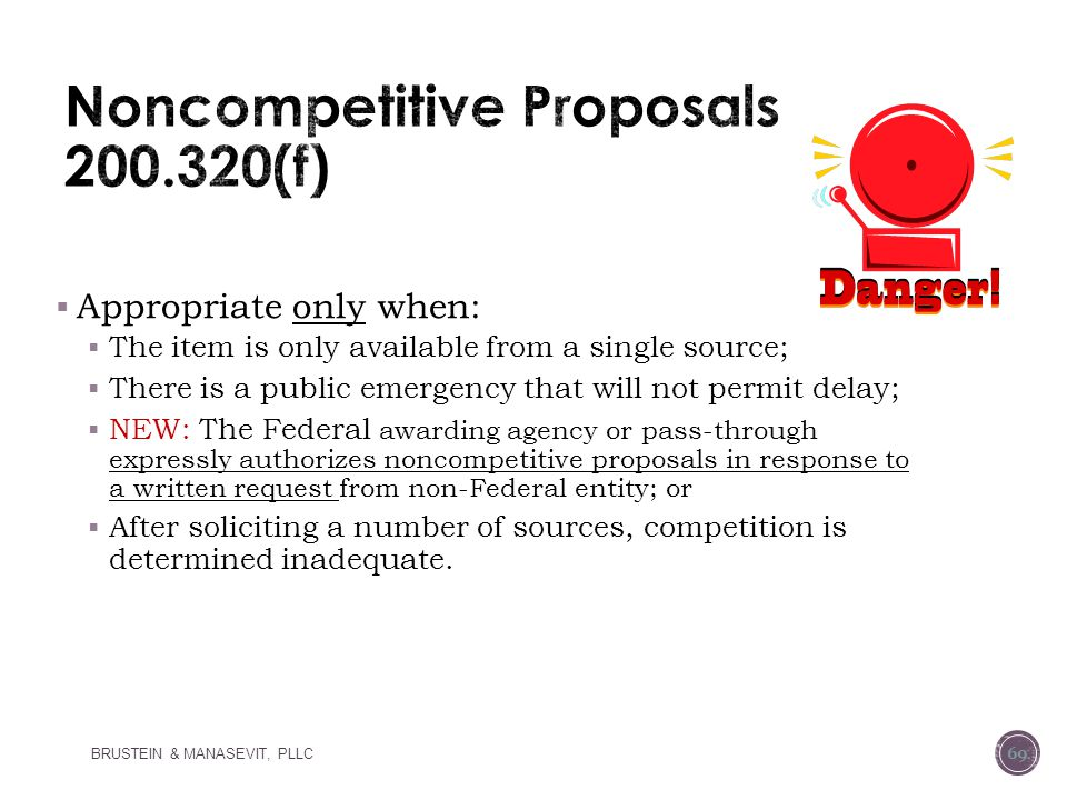Noncompetitive Proposals 200.320(f)