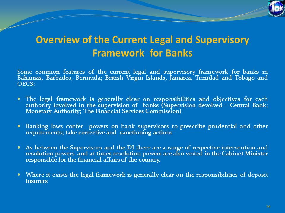 Overview of the Current Legal and Supervisory Framework for Banks