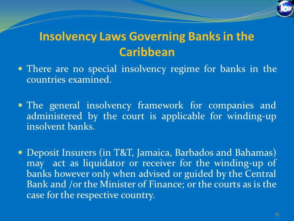 Insolvency Laws Governing Banks in the Caribbean